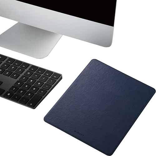 エレコム ELECOM MP-TGLNV 送料無料 エレコム ELECOM マウスパッド スプリットレザー XLサイズ ネイビー MP-TGLNV