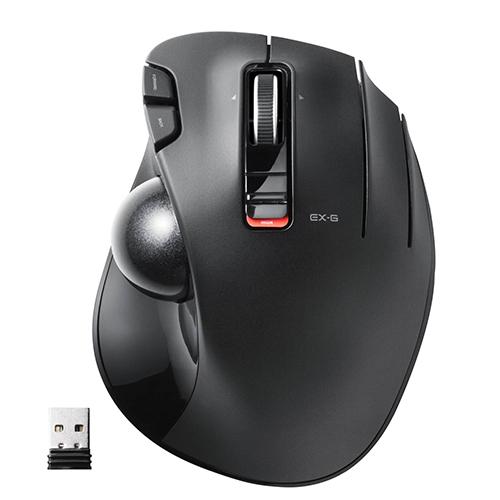 エレコム ELECOM M-XT3DRBK 送料無料 ワイヤレスマウス お中元 トラックボール ワイヤレス マウス 信憑 ブラック あす楽 6ボタン