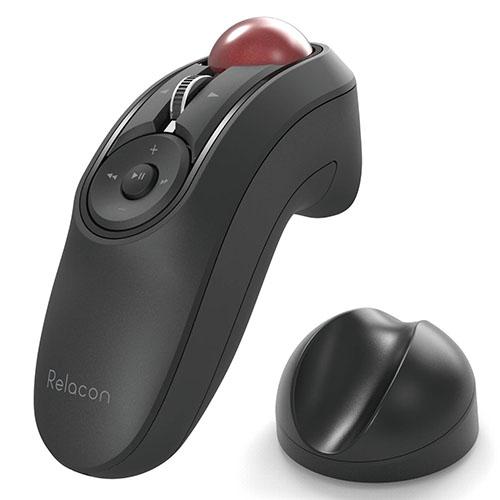エレコム ELECOM M-RT1BRXBK 送料無料 トラックボールマウス 安心の定価販売 ハンディタイプ オンラインショッピング スタンド� 静音 ブラック Relacon メディアコントロールボタン搭載 Bluetooth