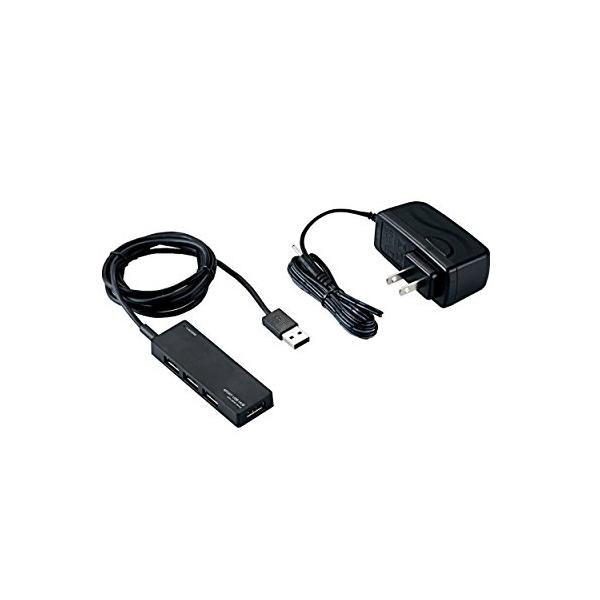 エレコム USB2.0 ハブ 4ポート ACアダプタ付 セルフ / バス両対応 Nintendo Switch動作確認済 ブラック U2H-AN4SBK USBHUB2.0 / AN4Sシリーズ / ACアダプタ付 / セルフパワー / 4ポート / ブラック 【 あす楽 】 ELECOM