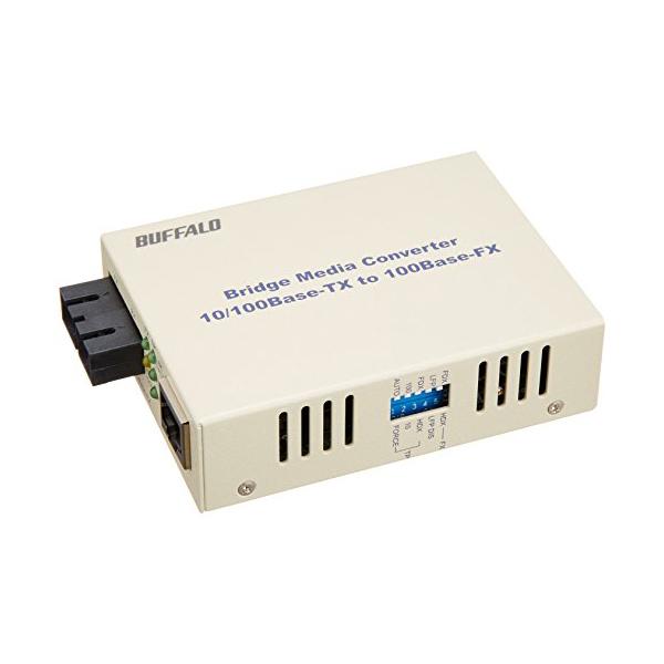 バッファロー 100M 光メディアコンバータ 2芯マルチモード 2km LTR2-TX-MFC2R