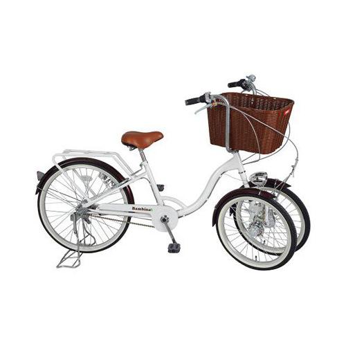 Bambina バスケット付三輪自転車 ホワイト