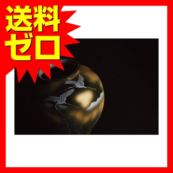 九谷焼 金箔木立鶴 10号花瓶 130903|1805SDTT^