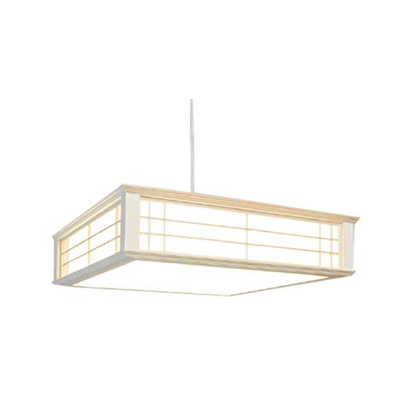【 天然木使用 】 オーム電機 LED和風ペンダントライト ~6畳用 リモコン式 昼光色 LT-W30D6K-K