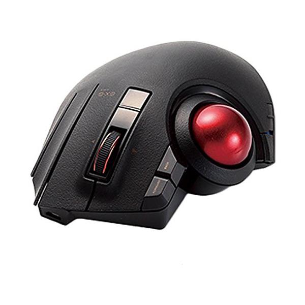 エレコム トラックボールマウス / 親指 / 8ボタン / チルト機能 / 有線 / 無線 / Bluetooth / 1000万回耐久 / ブラック M-XPT1MRBK 【 あす楽 】