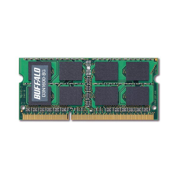 バッファロー PC3-12800 204Pin DDR3 SDRAM S.O.DIMM 8GB D3N1600-8G