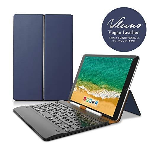 エレコム キーボード Bluetooth タブレット汎用ケース一体型 8.5~11.1インチ ( iPad Pro 9.7 / 10.5 / 11対応 ) レザー ブルー TK-CAP03BU Bluetoothキーボード / ケース一体型 / 無段階角度調整 【 あす楽 】 ELECOM