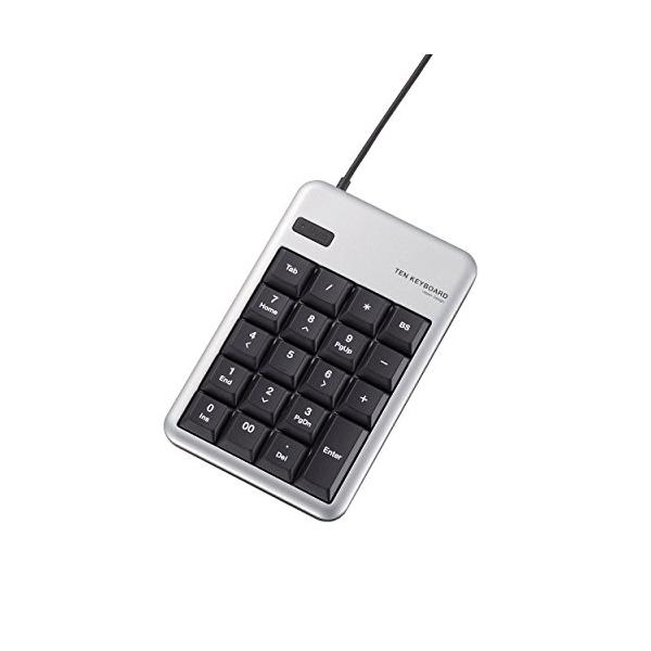 エレコム ELECOM TK-TCM012SV 送料無料 テンキーパッド 有線 1000万回高耐久 M USBポート付 超特価 シルバー テンキーボード メンブレン 贈与 TK-TCM012 USB Mサイズ HUB付 あす楽 テンキー 2.0