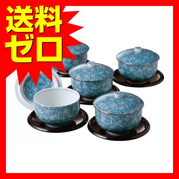 庫山窯 染吉野 茶托付蓋付煎茶5客揃 27456