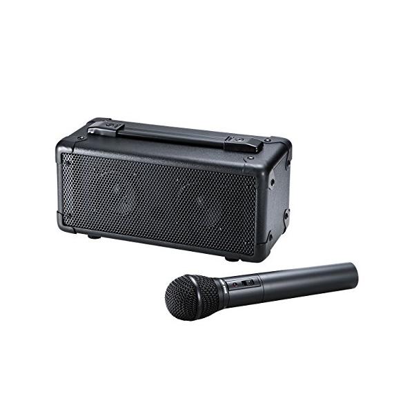 サンワサプライ ワイヤレスマイク付き拡声器スピーカー MM-SPAMP4 【 】