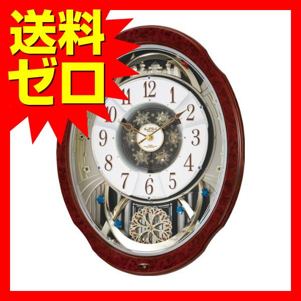 Small World (スモールワールド) 掛け時計 ブルームDX 電波時計 からくり時計 4MN499RH23