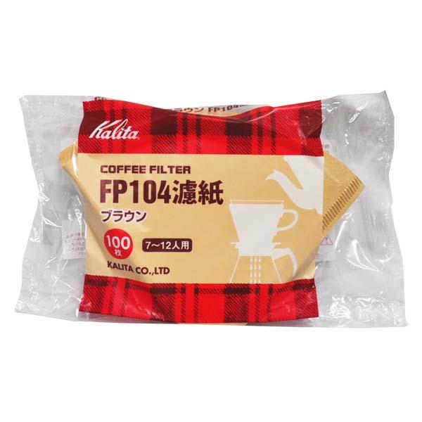 カリタ コーヒーフィルター 104濾紙 100枚入 ブラウン 倉 推奨 #17029 FP104濾紙 100枚入り 7~12人用