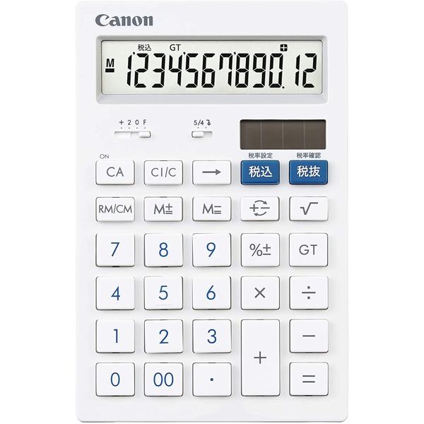 キヤノン HS-121T 激安価格と即納で通信販売 送料無料 12桁 卓上サイズ 人気 CANON 抗菌 電卓 キレイ電卓