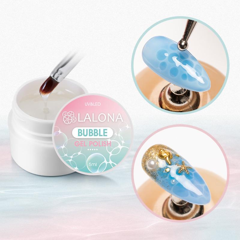 不思議な泡の魔法ジェル! LALONA [ ラローナ ] バブルジェル ( 5ml ) ジェルネイル/ソークオフ/バブルエフェクト/ポチョンネイル/ペイントジェル/パーツ作り
