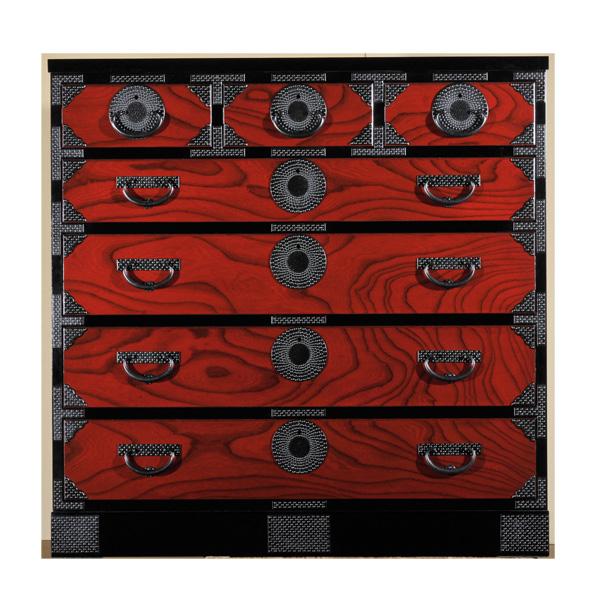 岩谷堂箪笥 月雫7号2型赤黒