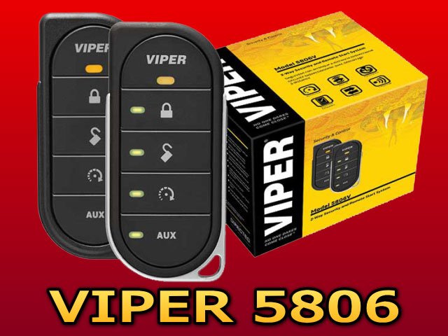 VIPER5806VLEDタイプのリモコンでセキュリティの動作がわかるコンパクトなデザインバイパー カーセキュリティー【エンジンスターター内蔵】【防犯グッズ】