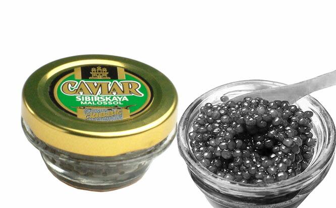 プレミアム純正キャビア/ caviar /キャビア/魚の卵/D&Hサイベリアンキャビアア50g