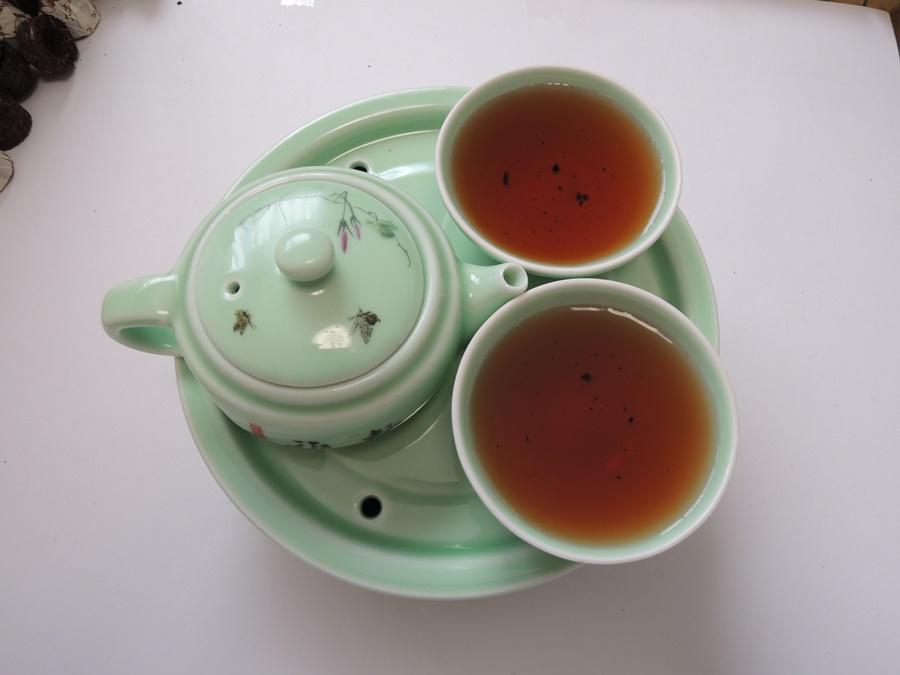 Pu-Erh tea goods Puer tea six major tea mountain of Pu-Erh tea thank you tea 2006 annual production of 4 g x 40 10P01Sep13