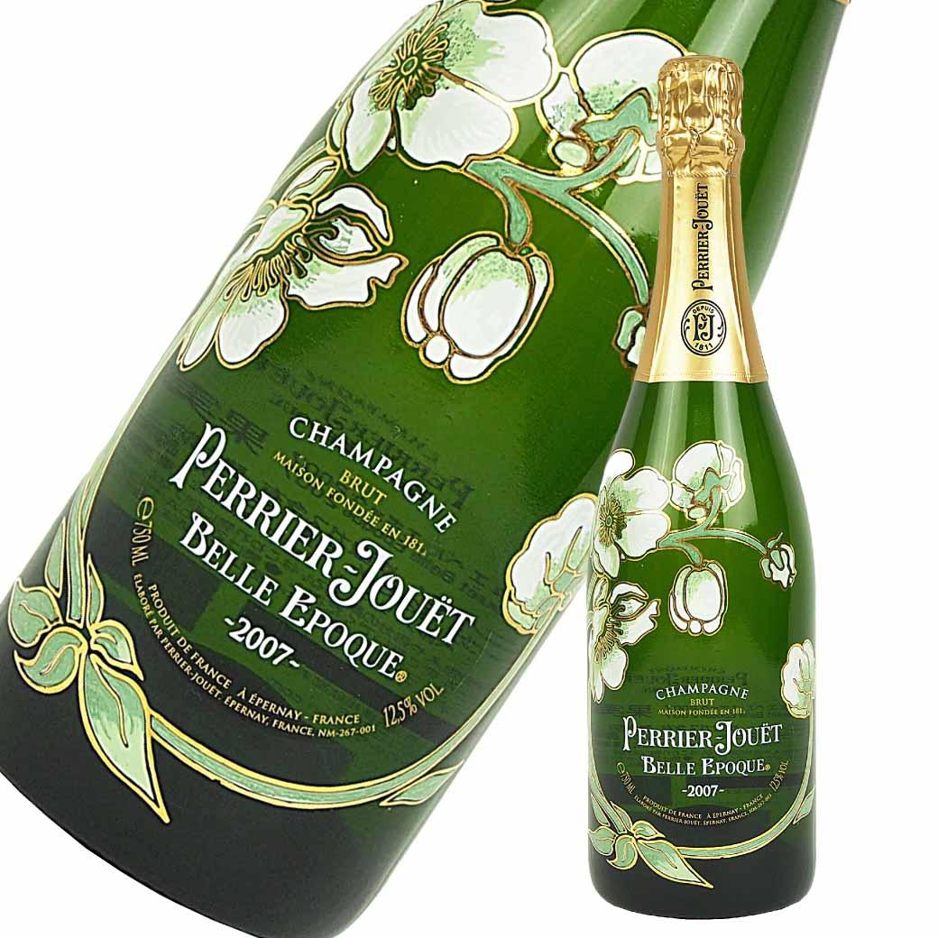 並行輸入品 ベルエポック 750ml フルボトル 2008年 スパークリングワイン ブラン 白シャンパン 箱なし ペリエジュエ 【二次流通品】 【中古】 【未開封】