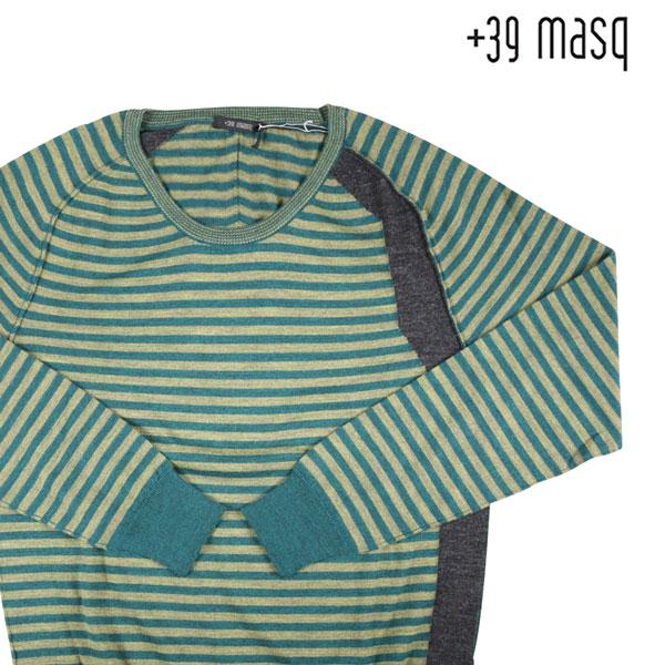 【XL】 +39 masq マスク 丸首セーター メンズ 秋冬 ボーダー イエロー 黄 並行輸入品 メンズファッション 男性用 ビジネス ニット 日本未入荷 ラッピング無料 送料無料