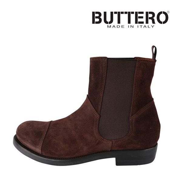 【41】 Buttero ブッテロ ブーツ B4424 メンズ ブラウン 茶 レザー 並行輸入品 メンズファッション 男性用 ビジネス 日本未入荷 ラッピング無料 送料無料