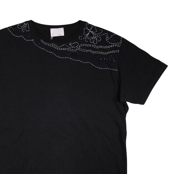 【L】 GUYA グーヤ Uネック半袖Tシャツ メンズ 春夏 ブラック 黒 並行輸入品 メンズファッション 男性用 ビジネス トップス 日本未入荷 ラッピング無料 送料無料