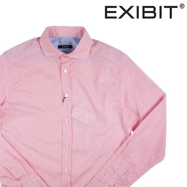 【S】 EXIBIT エグジビット 長袖シャツ メンズ ピンク 並行輸入品 メンズファッション 男性用 ビジネス カジュアルシャツ 日本未入荷 ラッピング無料 送料無料