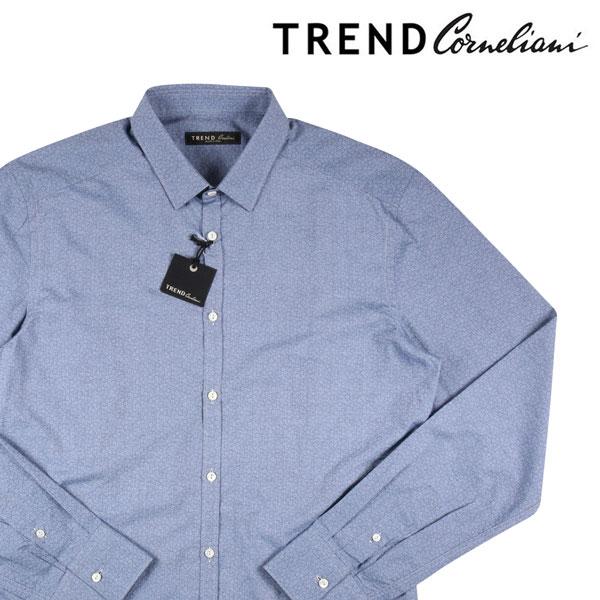 【40】 TREND トレンド 長袖シャツ メンズ ネイビー 紺 並行輸入品 メンズファッション 男性用 ビジネス カジュアルシャツ 日本未入荷 ラッピング無料 送料無料