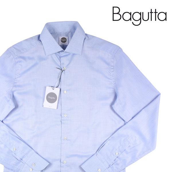 【40】 Bagutta バグッタ 長袖シャツ メンズ ブルー 青 並行輸入品 メンズファッション 男性用 ビジネス カジュアルシャツ 日本未入荷 ラッピング無料 送料無料