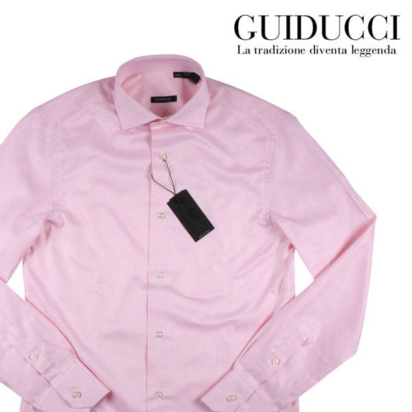 【42】 Guiducci グイドゥッチ 長袖シャツ メンズ ピンク 並行輸入品 メンズファッション 男性用 ビジネス ビジネスシャツ 大きいサイズ 日本未入荷 ラッピング無料 送料無料