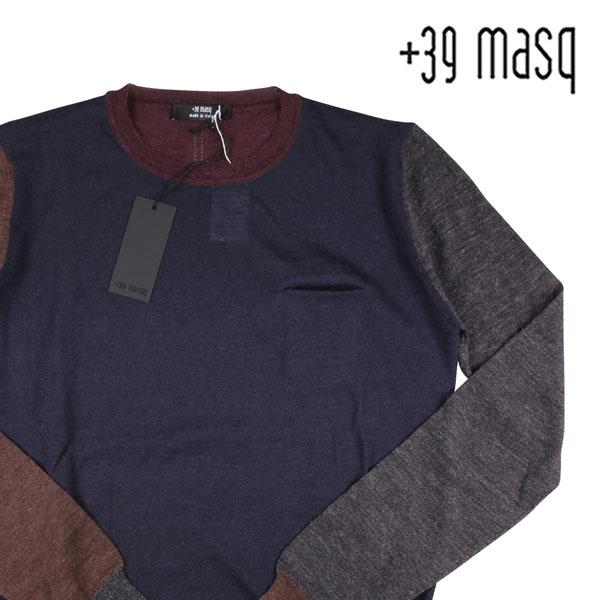 【M】 +39 masq マスク 丸首セーター メンズ 秋冬 ネイビー 紺 並行輸入品 メンズファッション 男性用 ビジネス ニット 日本未入荷 ラッピング無料 送料無料