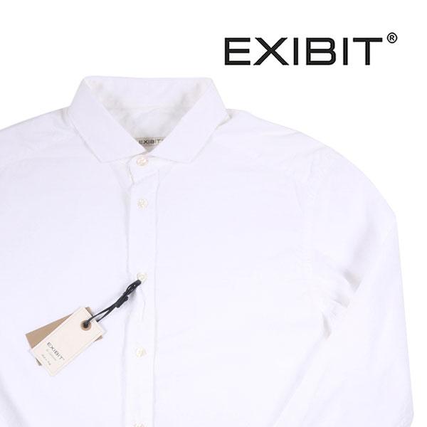 【M】 EXIBIT エグジビット 長袖シャツ メンズ ホワイト 白 並行輸入品 メンズファッション 男性用 ビジネス カジュアルシャツ 日本未入荷 ラッピング無料 送料無料
