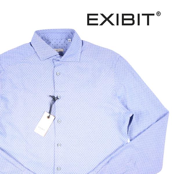 【M】 EXIBIT エグジビット 長袖シャツ メンズ ブルー 青 並行輸入品 メンズファッション 男性用 ビジネス カジュアルシャツ 日本未入荷 ラッピング無料 送料無料