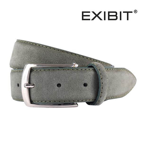 EXIBIT エグジビット ベルト メンズ レザー カーキ 並行輸入品 メンズファッション 男性用 ビジネス 日本未入荷 ラッピング無料 送料無料