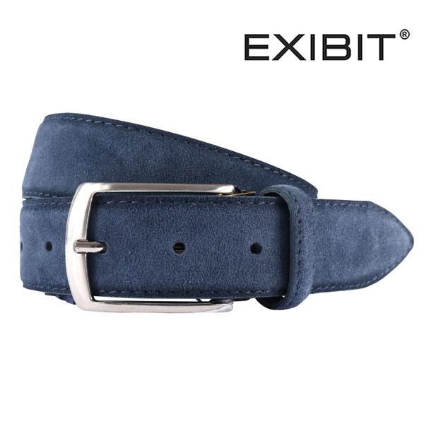 EXIBIT エグジビット ベルト メンズ レザー ネイビー 紺 並行輸入品 メンズファッション 男性用 ビジネス 日本未入荷 ラッピング無料 送料無料