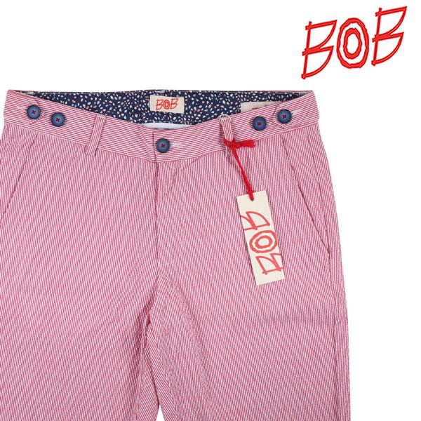 【48】 BOB ボブ ハーフパンツ COOL212 T212 メンズ 春夏 ストライプ レッド 赤 並行輸入品 メンズファッション 男性用 ビジネス ズボン 日本未入荷 ラッピング無料 送料無料