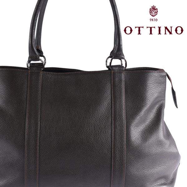 Ottino オッティーノ トートバッグ メンズ ブラウン 茶 並行輸入品 メンズファッション 男性用 ビジネス 日本未入荷 ラッピング無料 送料無料