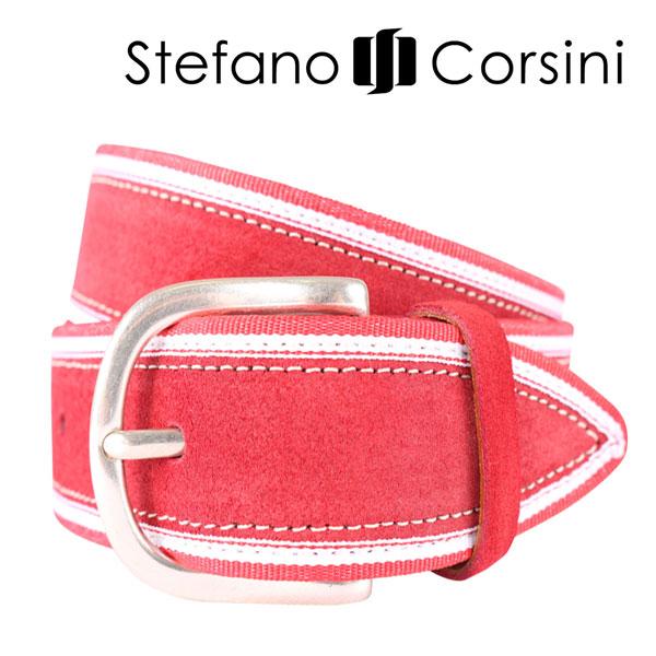 Stefano Corsini ステファノ・コルシーニ ベルト メンズ レッド 赤 並行輸入品 メンズファッション 男性用 ビジネス 日本未入荷 ラッピング無料 送料無料