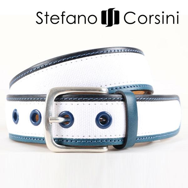 Stefano Corsini ステファノ・コルシーニ ベルト メンズ ホワイト 白 並行輸入品 メンズファッション 男性用 ビジネス 日本未入荷 ラッピング無料 送料無料