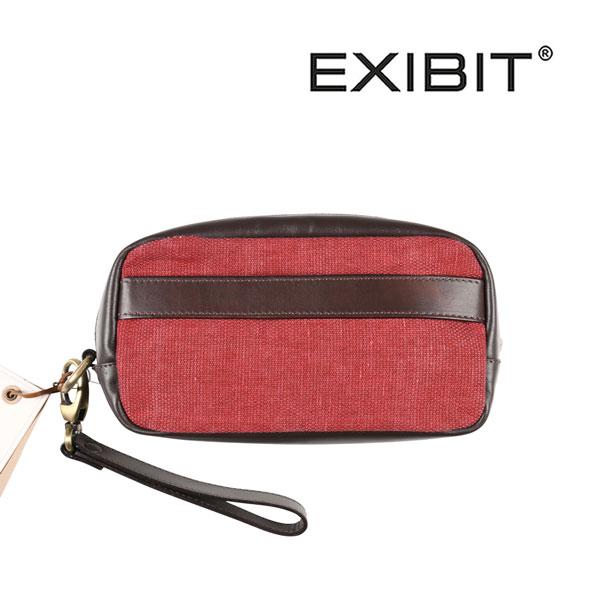 EXIBIT エグジビット ポーチ メンズ レッド 赤 並行輸入品 メンズファッション 男性用 ビジネス 日本未入荷 ラッピング無料 送料無料