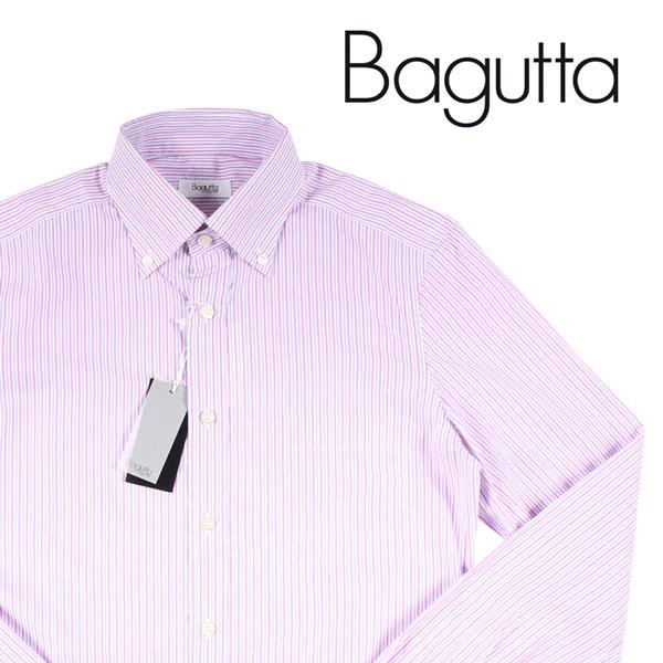 【37】 Bagutta バグッタ 長袖シャツ メンズ ストライプ ピンク 並行輸入品 メンズファッション 男性用 ビジネス カジュアルシャツ 日本未入荷 ラッピング無料 送料無料