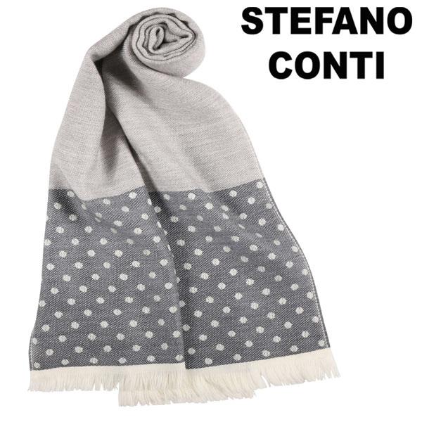 【アウトレット】stefano conti ステファノ・コンティ ストール メンズ 水玉 グレー 灰色 並行輸入品 メンズファッション 男性用 ビジネス 日本未入荷 ラッピング無料 送料無料