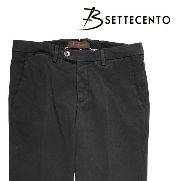 【33】 B SETTECENTO ビーセッテチェント コットンパンツ メンズ ブラック 黒 並行輸入品 メンズファッション 男性用 ビジネス ズボン 日本未入荷 ラッピング無料 送料無料