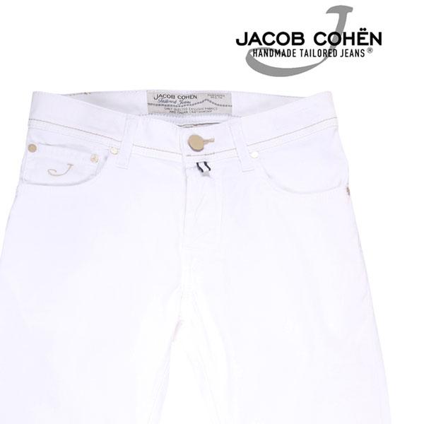 【28】 JACOB COHEN ヤコブコーエン カラーパンツ PW622COMF メンズ 春夏 ホワイト 白 並行輸入品 メンズファッション 男性用 ビジネス ズボン 日本未入荷 ラッピング無料 送料無料