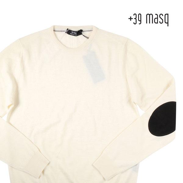 【訳あり】【S】 +39 masq マスク 丸首セーター メンズ 秋冬 ホワイト 白 並行輸入品 メンズファッション 男性用 ビジネス ニット 日本未入荷 ラッピング無料 送料無料