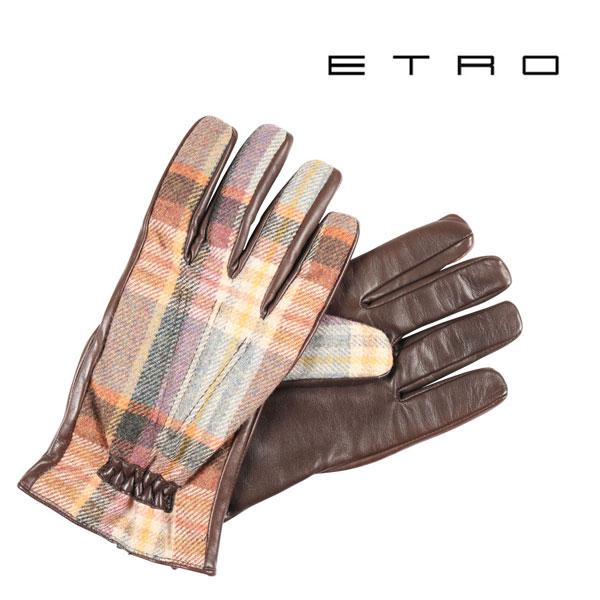 ETRO エトロ グローブ メンズ 秋冬 チェック マルチカラー 並行輸入品 メンズファッション 男性用 ビジネス 日本未入荷 ラッピング無料 送料無料