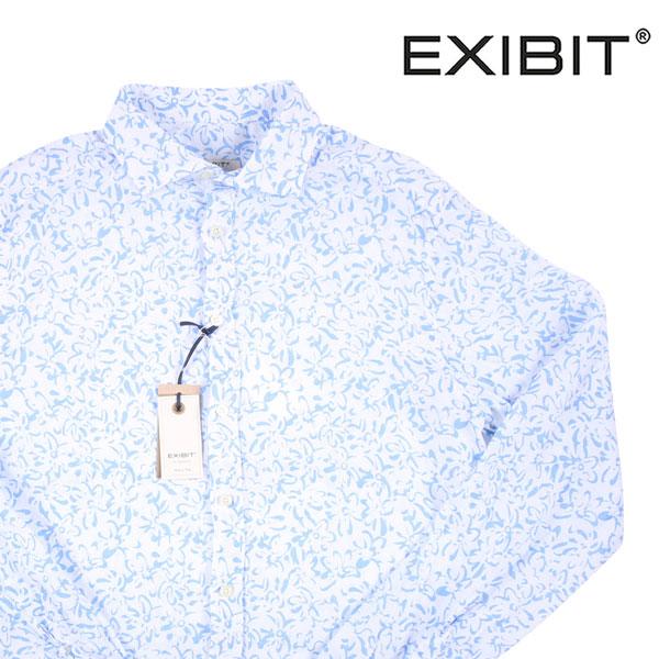 【XL】 EXIBIT エグジビット 長袖シャツ メンズ 春夏 リネン100% ホワイト 白 並行輸入品 メンズファッション 男性用 ビジネス カジュアルシャツ 日本未入荷 ラッピング無料 送料無料