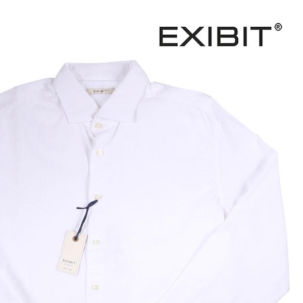 【45】 EXIBIT エグジビット 長袖シャツ メンズ ホワイト 白 並行輸入品 メンズファッション 男性用 ビジネス カジュアルシャツ 大きいサイズ 日本未入荷 ラッピング無料 送料無料