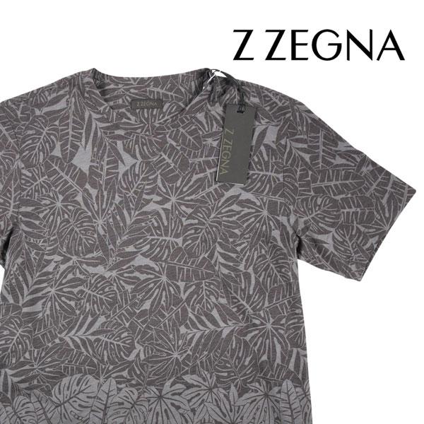 【S】 Z.ZEGNA ジーゼニア Uネック半袖Tシャツ メンズ 春夏 グレー 灰色 並行輸入品 メンズファッション 男性用 ビジネス トップス 日本未入荷 ラッピング無料 送料無料