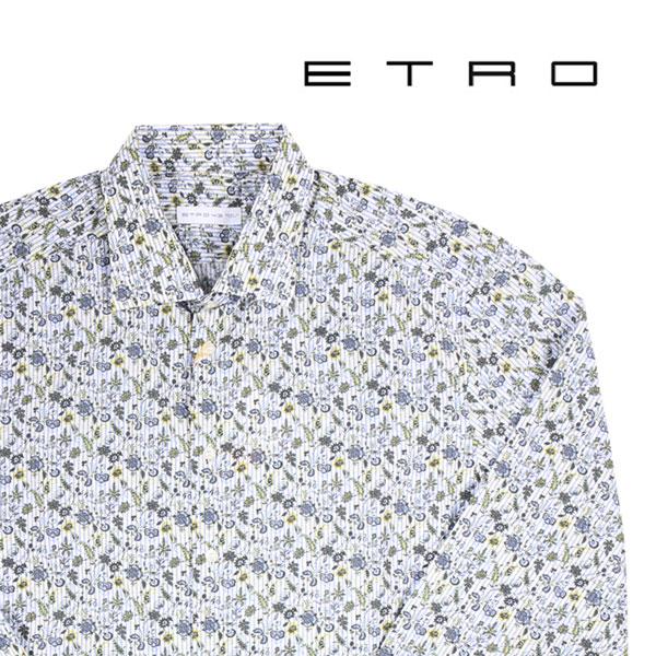 【43】 ETRO エトロ 長袖シャツ メンズ 花柄 グリーン 緑 並行輸入品 メンズファッション 男性用 ビジネス カジュアルシャツ 大きいサイズ 日本未入荷 ラッピング無料 送料無料